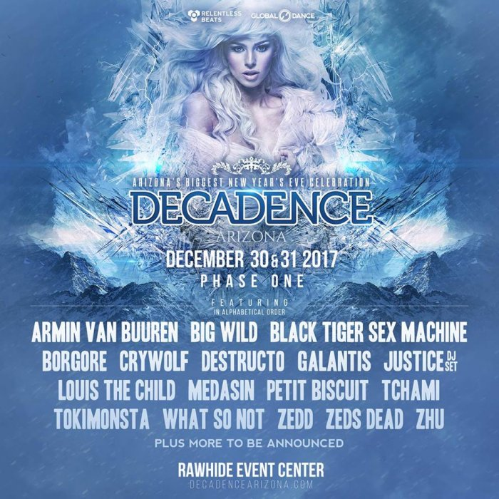 Decadence 2017 Phase 1 Lineup